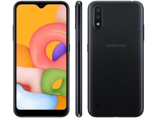 Celular / Smartphone Samsung Galaxy A01 32GB Preto Octa-Core - 2GB RAM