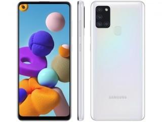"""Celular / Smartphone Samsung Galaxy A21s 64GB Tela Infinita de 6.5"""" Leitor de Digital 4GB RAM"""