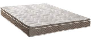 Colchão Paropas de Espuma D33 Conforto Ultra Firme 198x158x26 + BOX Preto