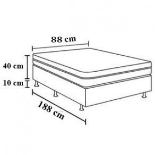 Colchobox Solteiro Orthopedico Sono Lider 88X188X40