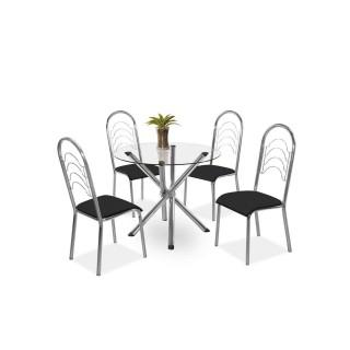 Conjunto Mesa Pietra com 4 Cadeiras Pequim