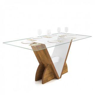 Conjunto Sala De Jantar DJ Móveis Mesa com 6 Cadeiras Veneto