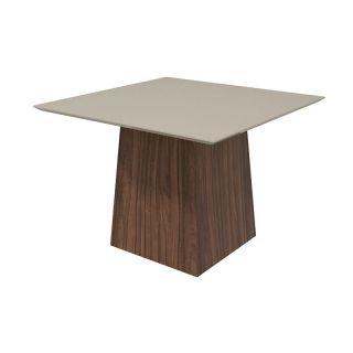 Conjunto Sala de Jantar Mesa Lopas Nevada 130cm com 8 Cadeiras Apogeu
