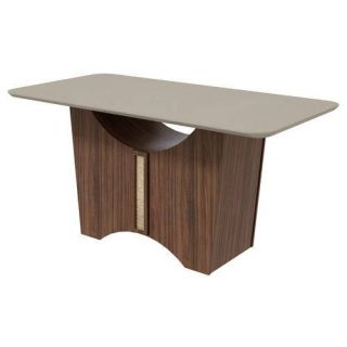 Conjunto Sala de Jantar Mesa Lopas Rock 170 cm com 6 Cadeiras