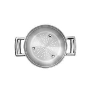Cozi-Vapore Tramontina Brava em Aço Inox com Alça 20 cm 2,2 L