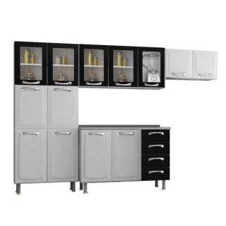 Cozinha Compacta Itatiaia Premium - 4 Peças Branca e Preta