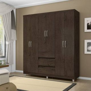 Guarda-Roupa Araplac Ref 14460 6 Portas Imbuia