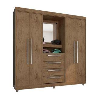 Guarda-Roupa Araplac Ref 1618 4 Portas C/ Espelho
