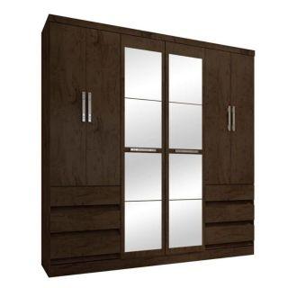 Guarda-Roupa Araplac Ref 4177 Imbuia Com Espelho