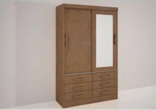 Guarda-Roupa D' Doro Móveis Meridian 2 portas com Espelho