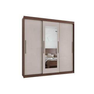 Guarda-Roupa Lopas Aquarius 3 Portas com Espelho