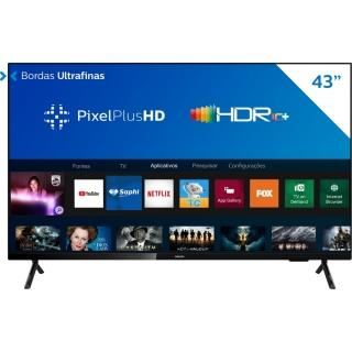 """Smart TV 43"""" Philips 43PFG6825/78 HDR Plus 3 HDMI 2 USB Wi-Fi Miracast"""