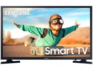 "Smart TV LED 32"" Samsung 32T4300 WIFI HDR Tizen 2 HDMI 1 USB - Preto"