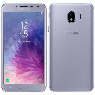 """Smartphone Samsung Galaxy J4 Dual chip, 4G, Câmera 13MP, Android 8.0, Processador Quad Core 1.4 GHz e 2GB de RAM, 32GB, Prata, Tela 5.5"""""""