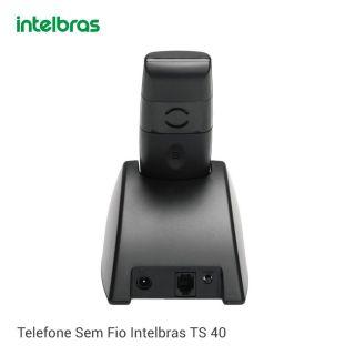 Telefone Intelbras Sem Fio TS 40 ID - Preto