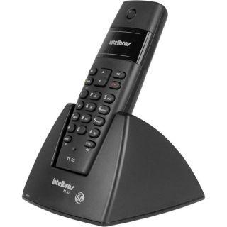 Telefone Intelbras Sem Fio TS 40 Sem Identificador - Preto