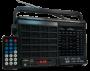 Rádio Portátil Motobras RM-PU32AC 7 Faixas AM/FM com Bluetooth / entrada USB / TF Card / Controle Remoto / Entrada Auxiliar e Display.