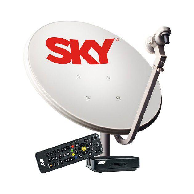 Antena SKY Pré-Pago Kit Flex 60cm