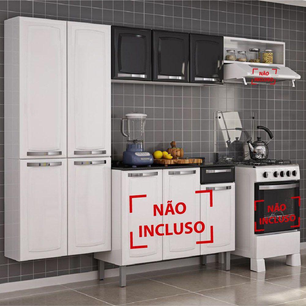 Armário Itatiaia Cozinha Rose Compacta 3 peças