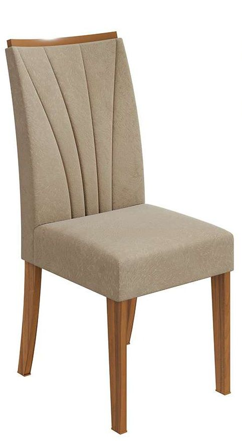 Cadeira Lopas Apogeu Rovere Soft Suede Animale Bege