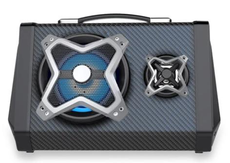 Caixa De Som Multilaser 120w Bluetooth Sound System - SP314