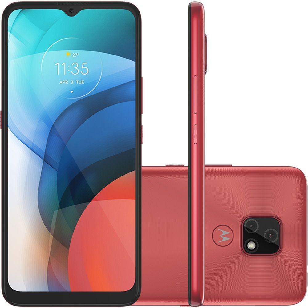 Celular / Smartphone Motorola Moto E7 64GB 4G RAM Câmera Dupla 48MP Octa-Core