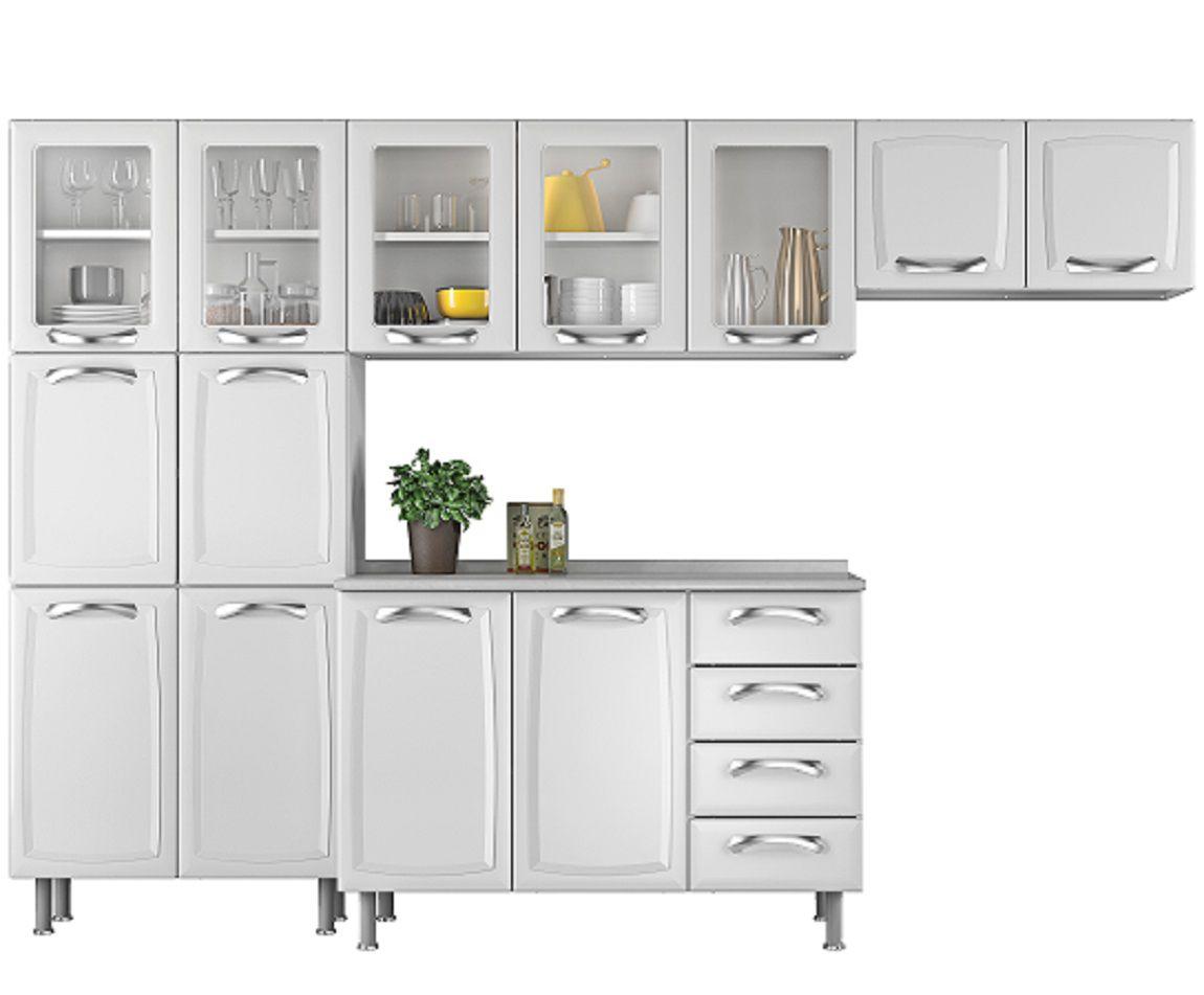 Cozinha Compacta Itatiaia Premium - 4 peças Branca