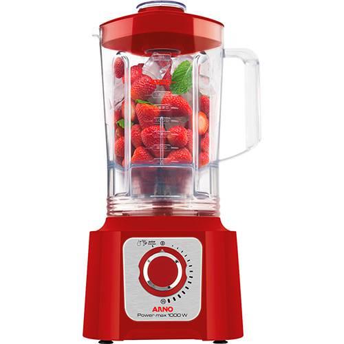 Liquidificador Arno Power Max 1000W LN54 Vermelho