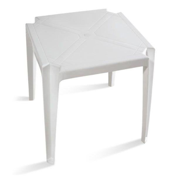 Mesa Plástica Pnaples Santorine Branca