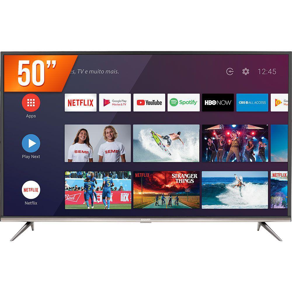 "Smart TV LED Semp 50"" Ultra HD 4K 50SK8300 3 HDMI 2 USB Inteligência Artificial"