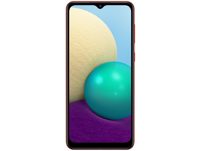 Smartphone Samsung Galaxy A02 32GB Vermelho 4G - Quad-Core 2GB RAM 6,5