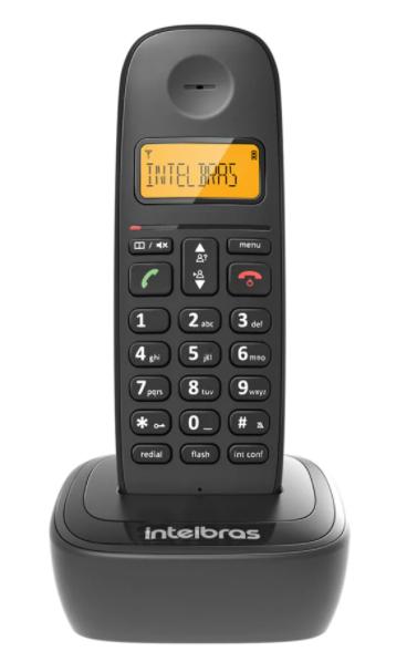 Telefone Sem Fio Intelbras TS 2510 Identificador de Chamada e Tecnologia DECT 6.0 – Preto