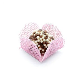 Forminha Caixeta - Tela rosa claro - 50 unidades