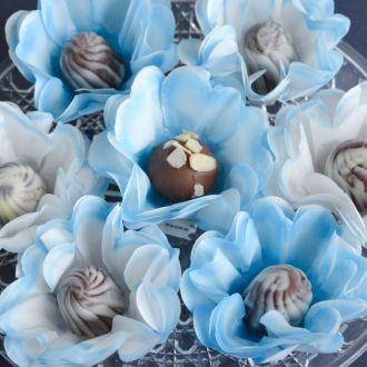 Forminha de doce Fashion Lysa Elegance Azul - Caixa c/ 30 unid.