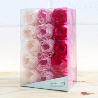 Forminha para doce - Adelle 3 Tons de rosa - 30 unid.