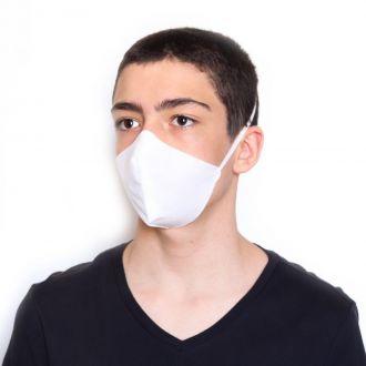 Máscara Descartável Anatômica Dupla camada - Branca (Kit 50 Unidades)