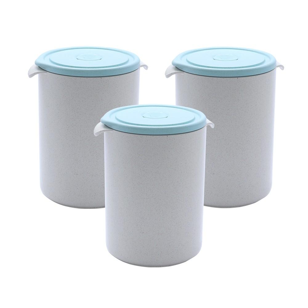 Conjunto de potes Herméticos 500ml material ecológico - 3 Peças
