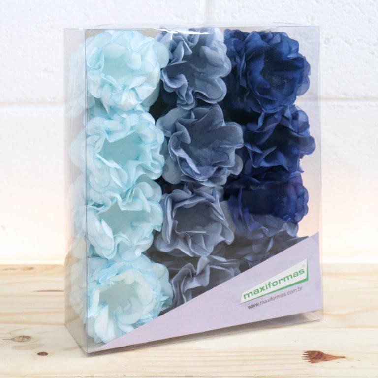 Forminha para doce - Stefani 3 Tons de azul - 40 unid.