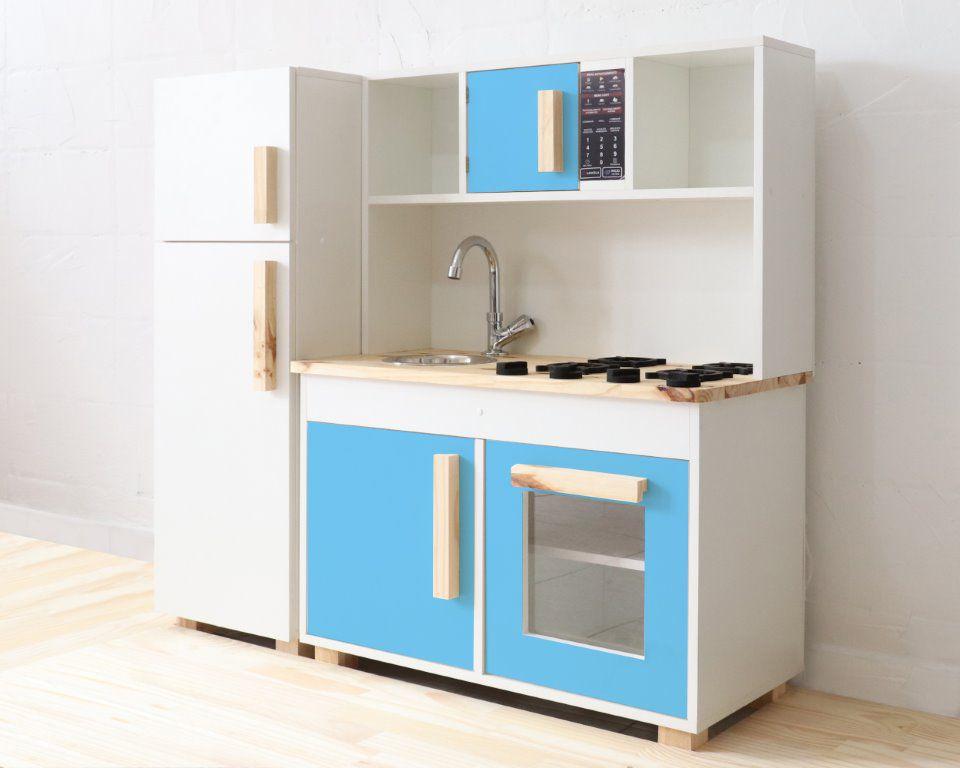 Mini cozinha infantil com geladeira e bancada 4 Cores - 100% MDF