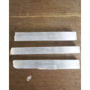 Bastão bruto Selenita Branca - Unidade - 8 a 12 cm (40 a 50g)