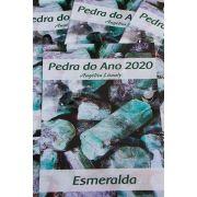 FOLHETO PEDRA DO ANO COM PINGENTE DE ESMERALDA  - UNIDADE - Média 1,5 a 2 cm