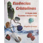 Kit Livro Essências Cristalinas + Pendulo de Selenita Branca