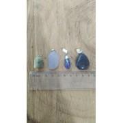 PEDIDO WHATSAPP - GISLAINE - 4 PINGENTES -  água-marinha, calcedônia, lápis lázuli,  sodalita