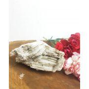 PEDRA DA NEVE/ ALBITA/ FELDSPATO BRANCO-  9 cm