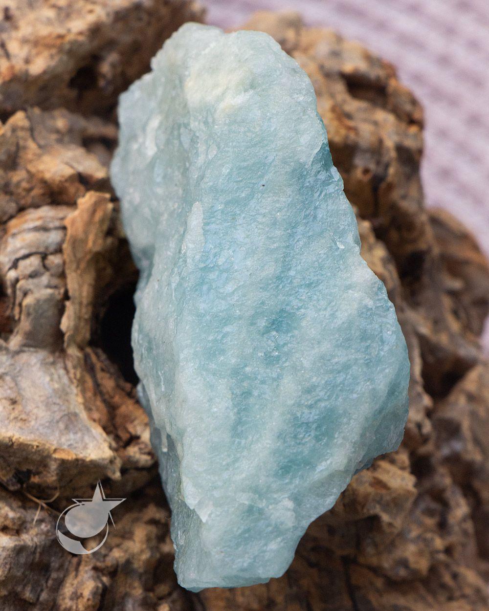 ÁGUA MARINHA BRUTA - 8 cm