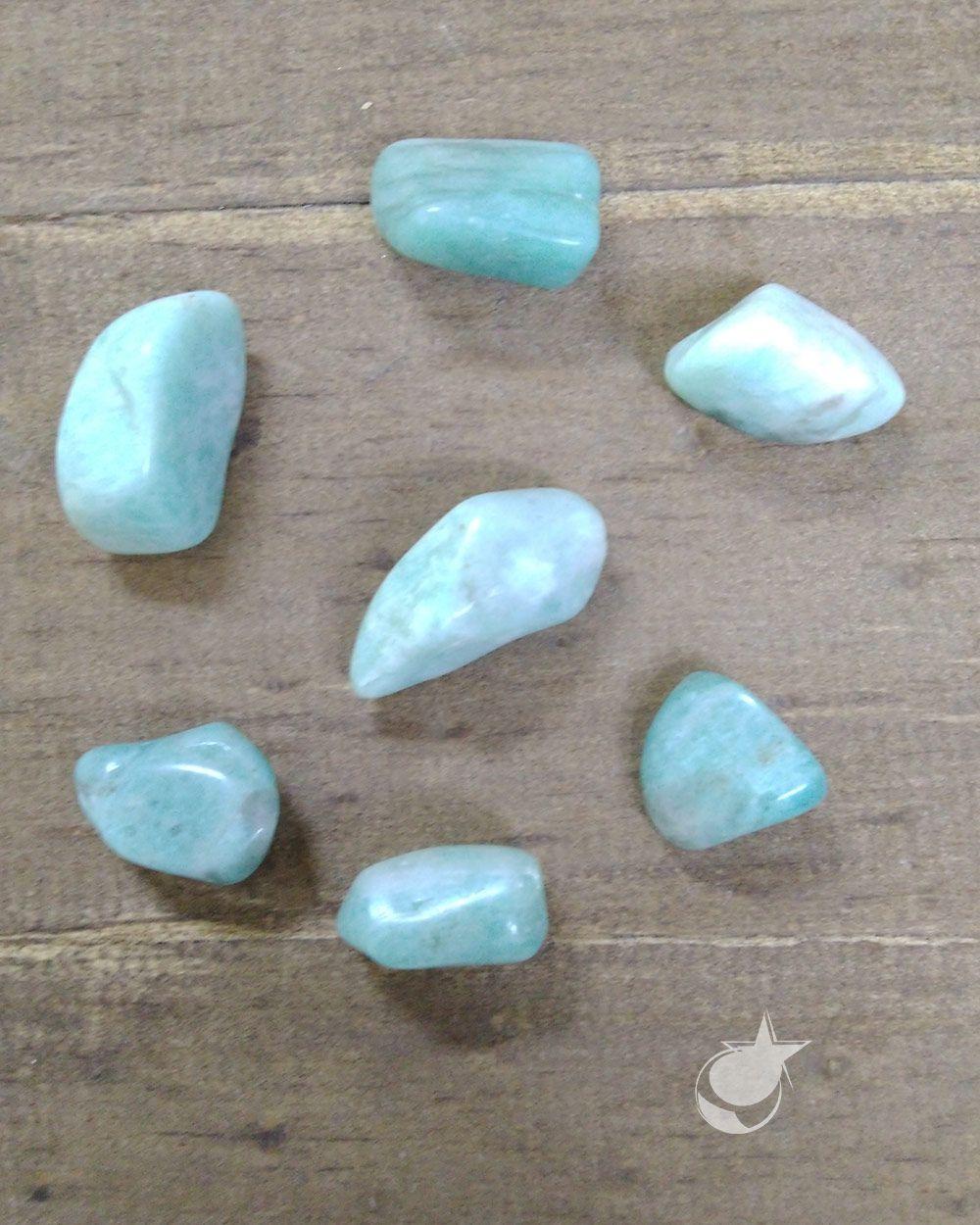 AMAZONITA ROLADA - PACOTE 40g -  4 a 6 pedras - PEDRA DO ANO 2021