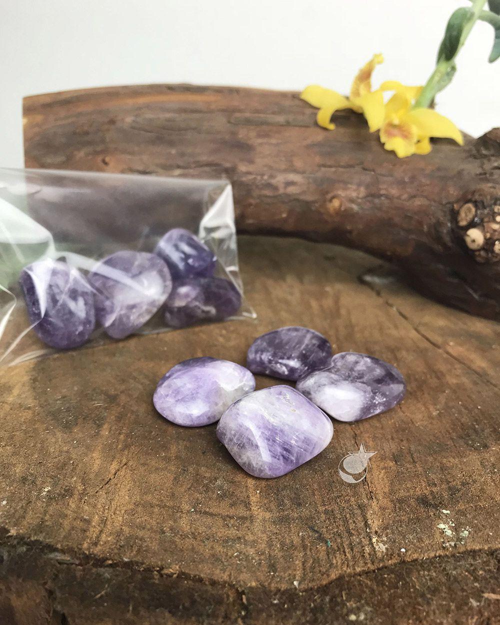 AMETISTA ROLADA -  Pacote com 4 pedras - Total 45 A 55g