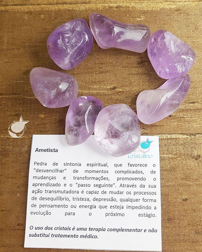 AMETISTA ROLADA -  Pacote com 7 pedras - Total 90 A 100g