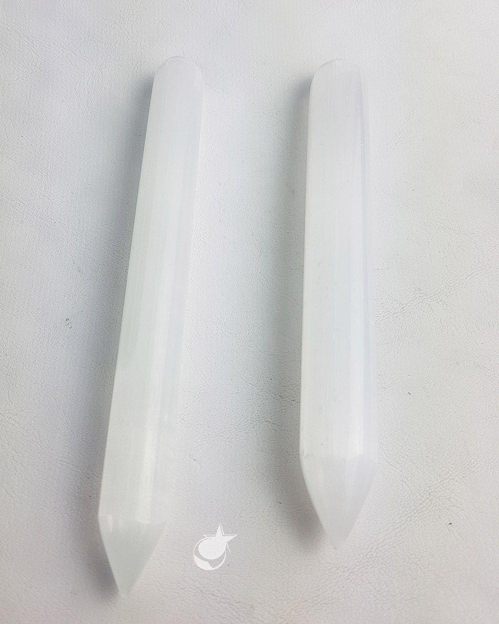 Bastão massageador Selenita Branca - Unidade - 15 cm