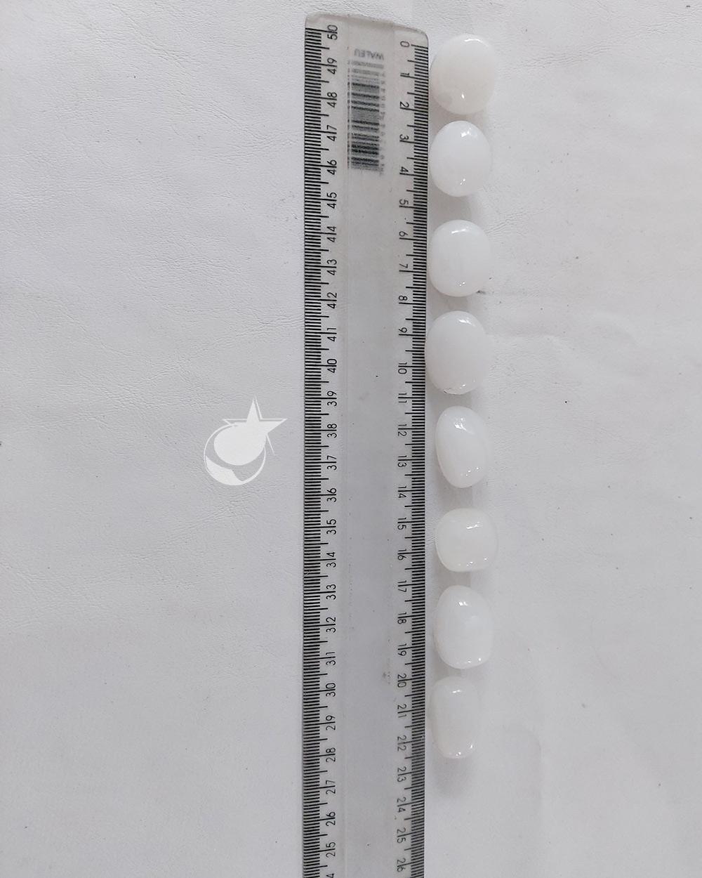 CALCITA BRANCA ROLADA - UNIDADE - aprox. 2 cm - (10 a 12g)